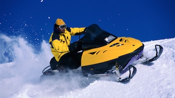 Snowmobile Tour at Great Slave Lake