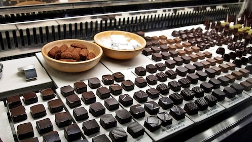 Counter of chocolate candies in Toronto