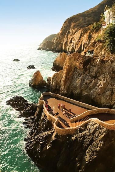 Cliff-Diving Show at La Perla Restaurant