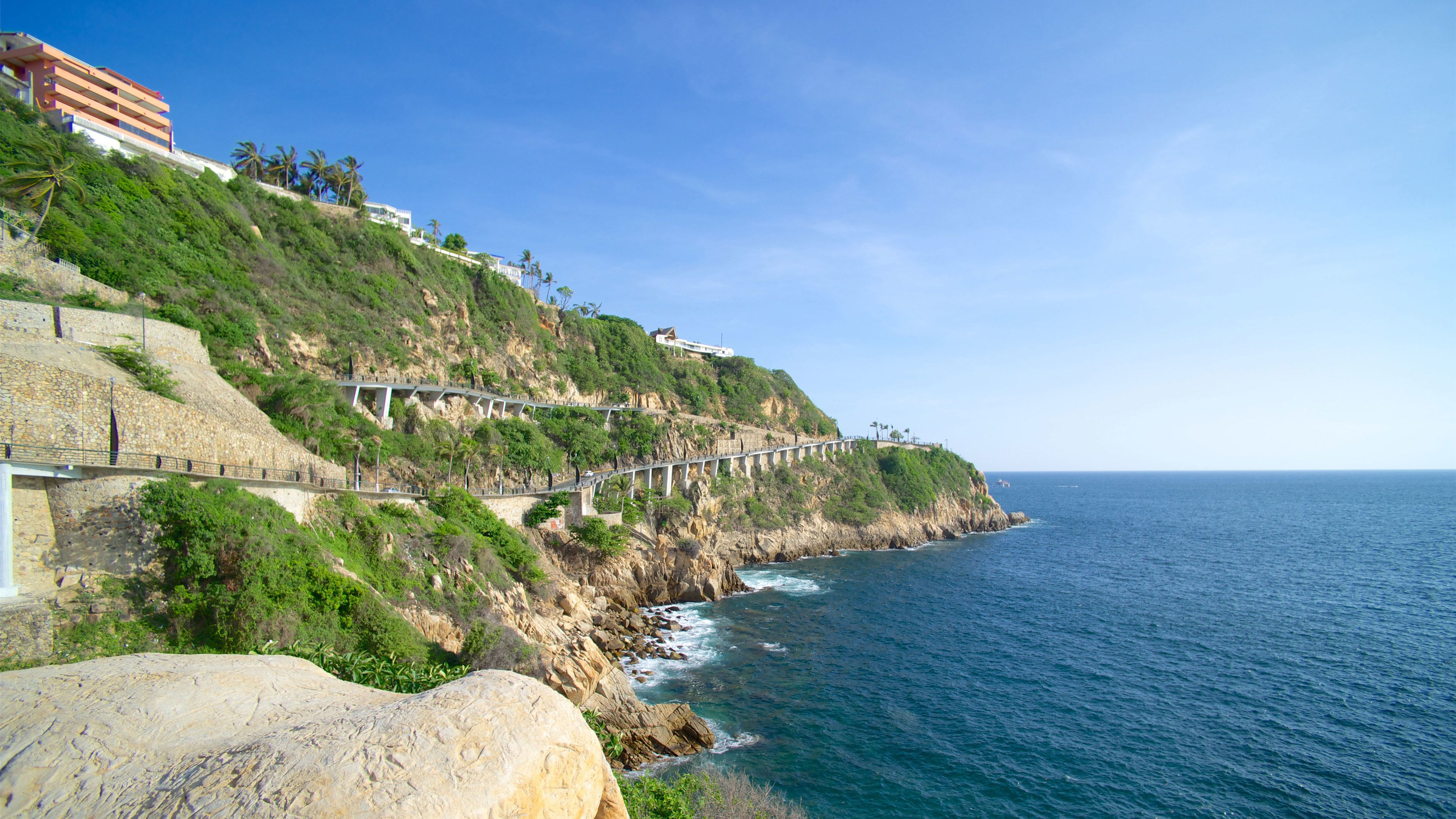 View of the rocky coast in Acapulco