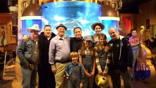 Cast of Tanked pose for photos