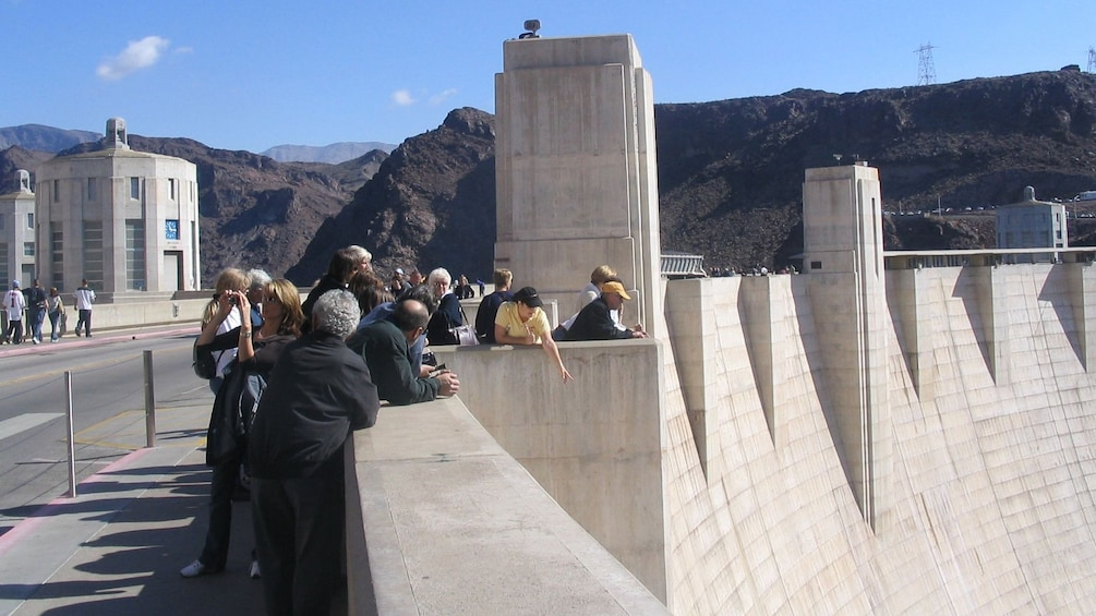 Show item 1 of 5. Tour group at the Hoover Dam