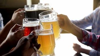Sexrätters isländsk mat och provsmakning av öl