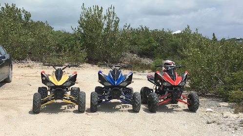 View of the equipment for the Off Road Express Safari in Turks and Caicos