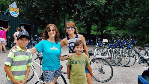 bicyclists in the park