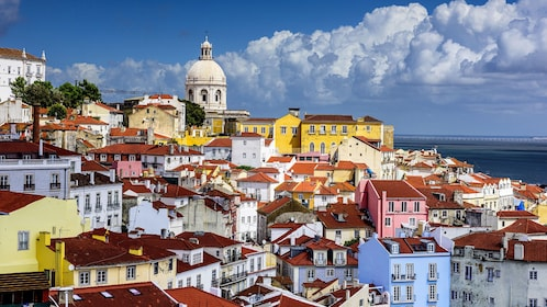 Colorful buildings in the town of Alfama