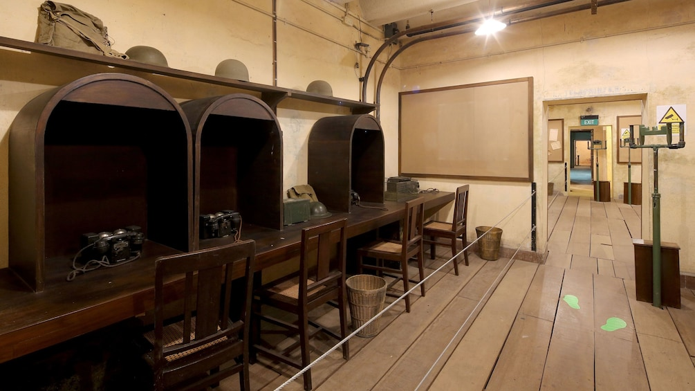 Show item 2 of 4. Communication Room at  Fort Canning in Singapore