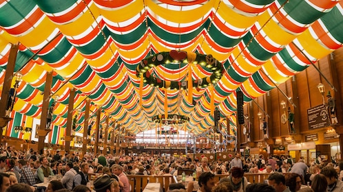 Tent at Oktoberfest in Munich