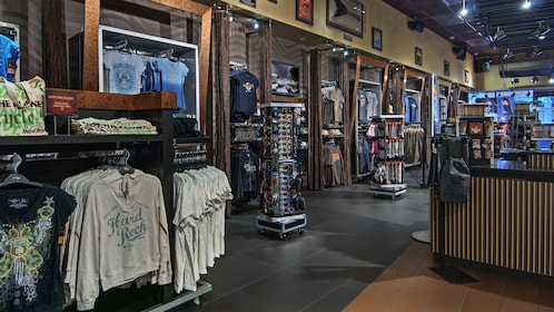Hard Rock Cafe gift shop on the Las Vegas strip