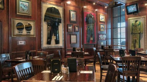 Dining area in hard rock cafe in Memphis