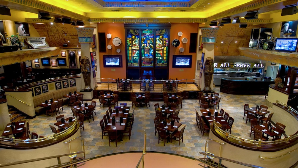 Show item 2 of 10. Main dining room of the Hard Rock Cafe in Myrtle Beach