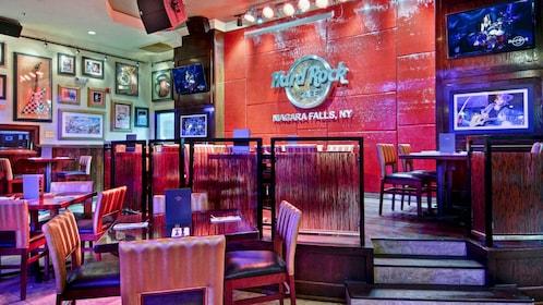Dining at the Hard Rock Cafe in Niagara Falls