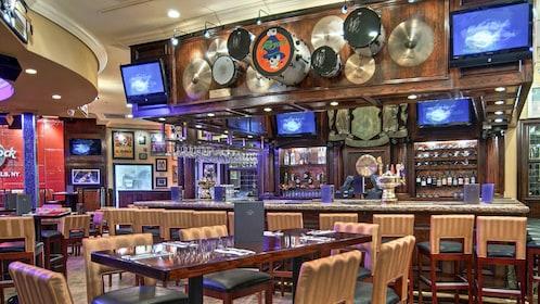 Bar seating at the Hard Rock Cafe in Niagara Falls