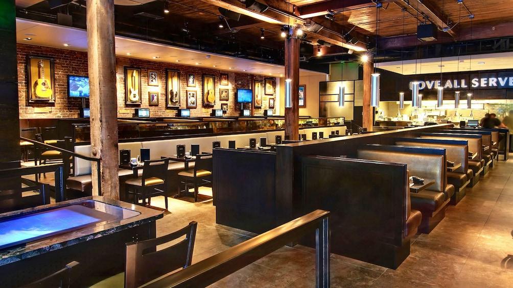 Åpne bilde 5 av 5. Seating area at the Hard Rock Cafe in Seattle