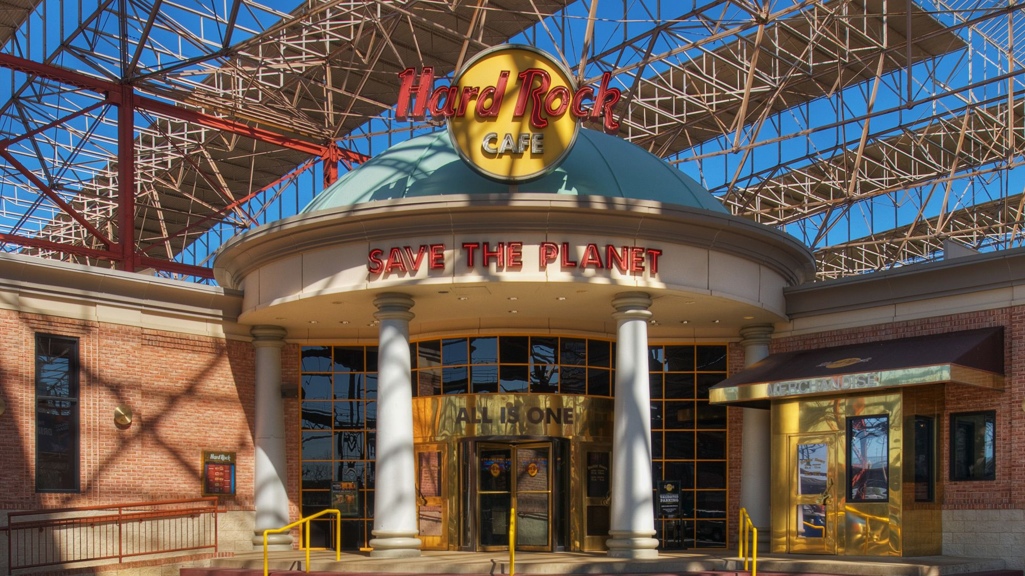 Entrance to the St Louis Hard Rock Cafe