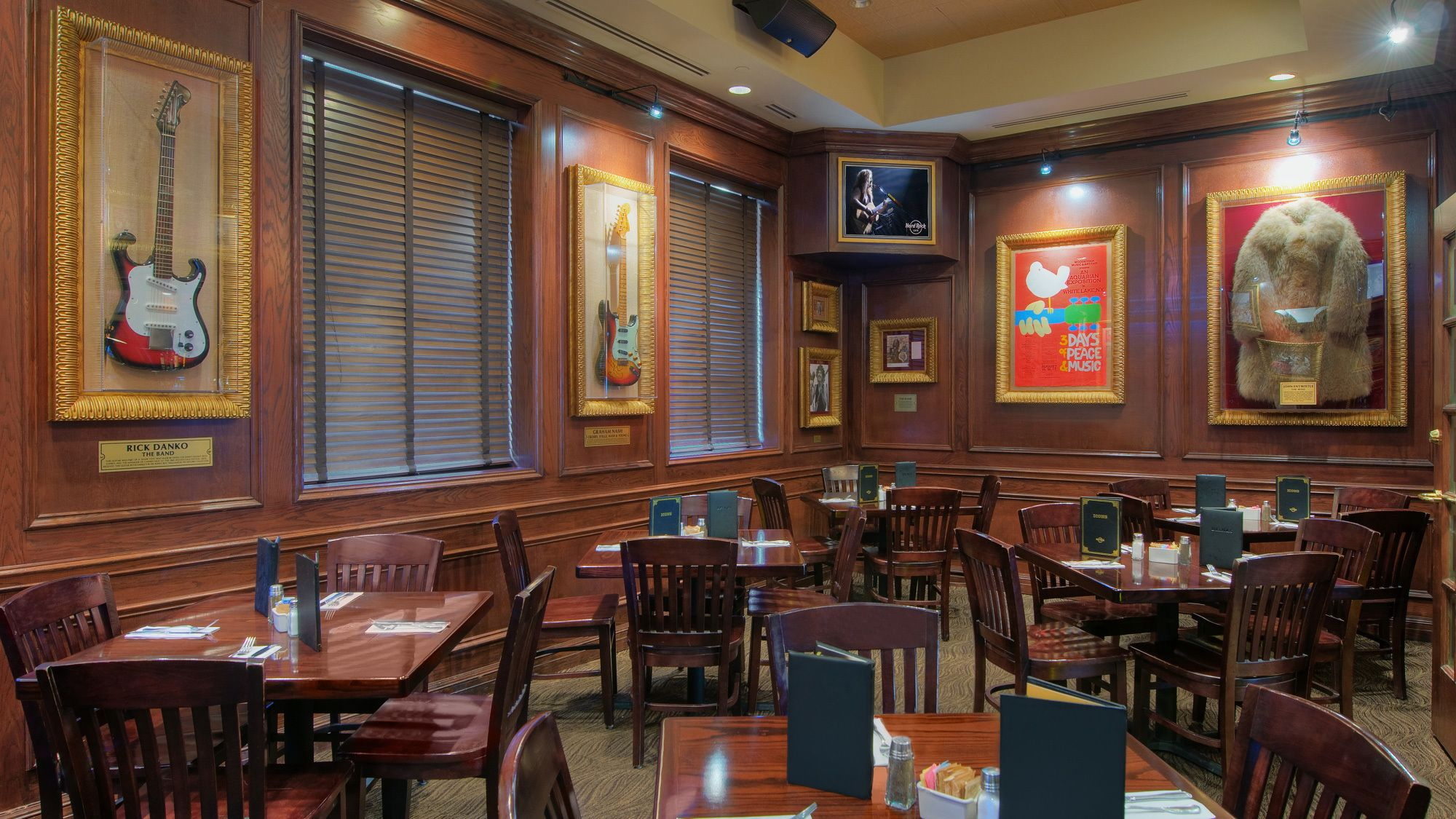 Dining area within the Hard Rock Cafe
