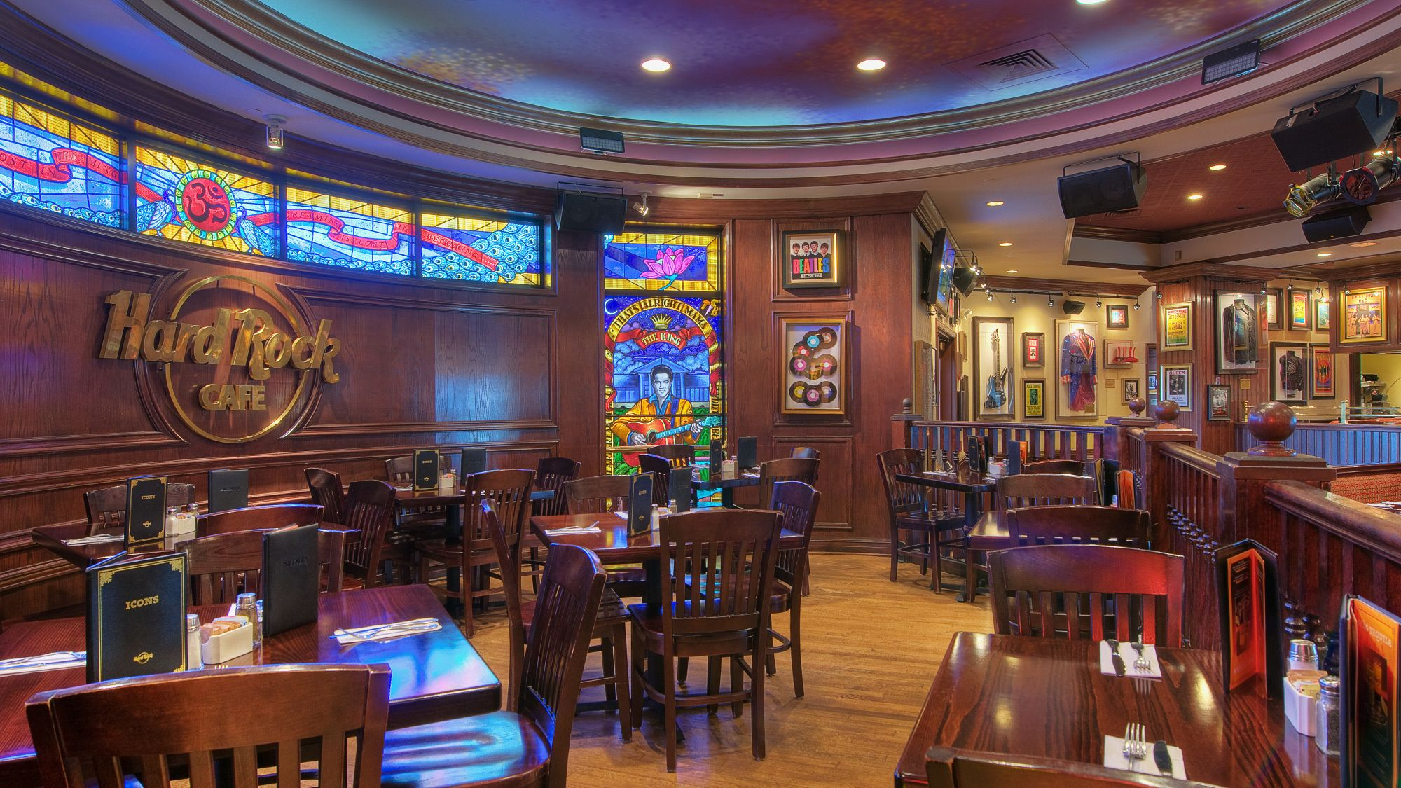 Interior view of the Hard Rock Cafe in St. Louis
