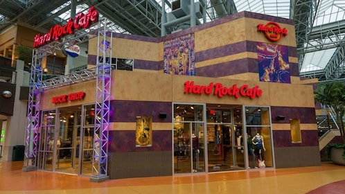A Hard Rock Cafe inside the Mall of America in Minnesota