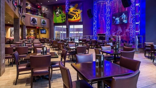 Open floor seating at the Hard Rock Cafe at the Mall of America in Minnesota