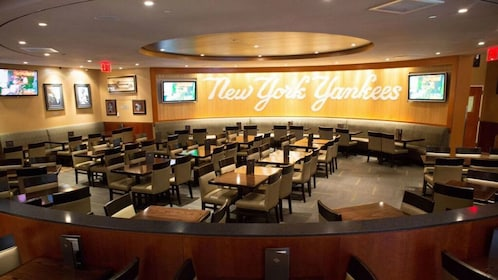 Open floor seatings at the Yankee Stadium Hard Rock Cafe in New York
