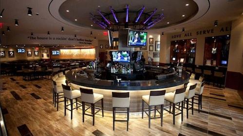 Circular bar at the Yankee Stadium Hard Rock Cafe in New York