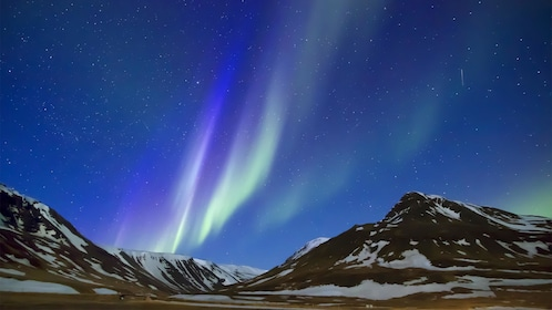Night view of the Northern Lights