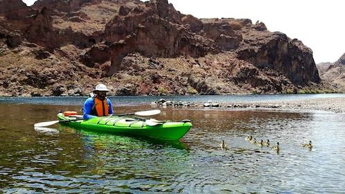 Kayaker on Colorado River
