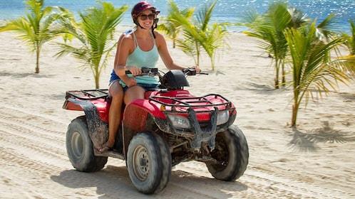 ATV ride on the beach of Cancun