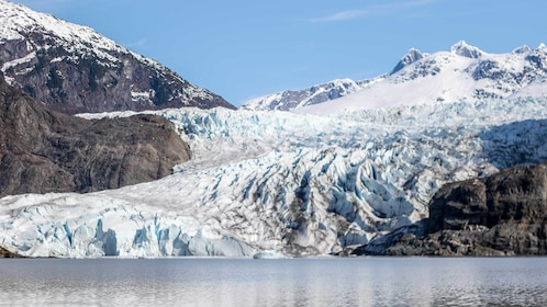 Stunning view of the glaciers on the Mendenhall Glacier Ice Caves Adventure