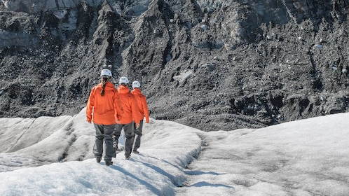 Group walking on the Mendenhall Glacier Ice Caves Adventure