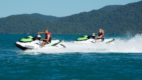 Pair of jet skiers in Whitsunday