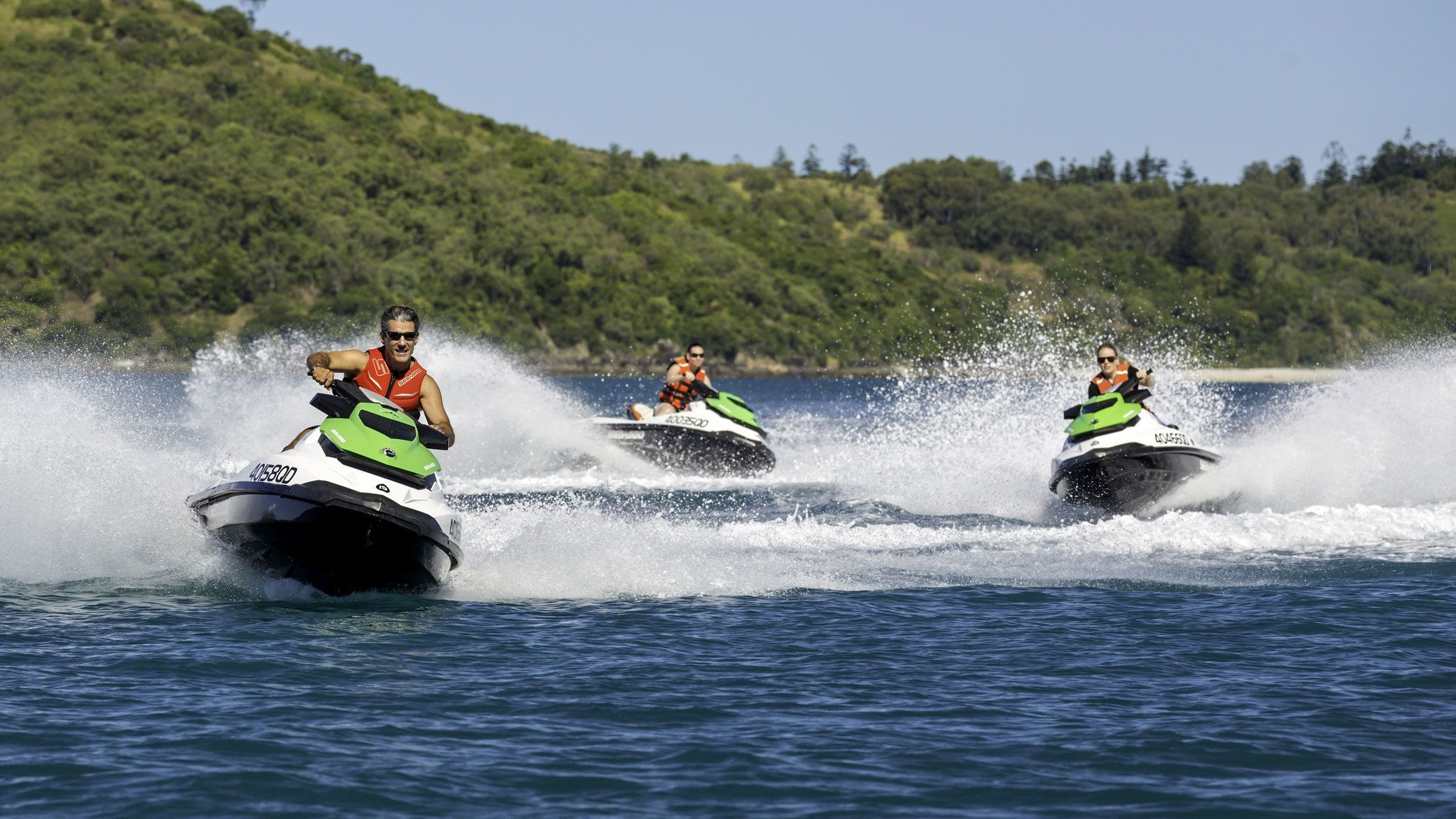 Group of people on jet skis in Whitsunday