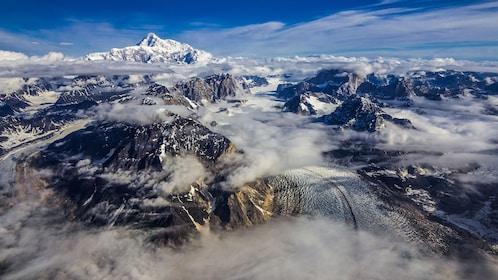 The snowy mountains of Alaska