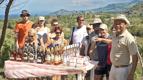 Group with a tour guide in Puerto Plata, Dominican Republic
