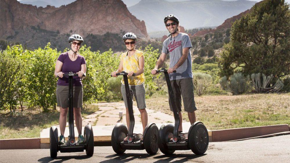 Group enjoying the Jordan Road Segway Tour