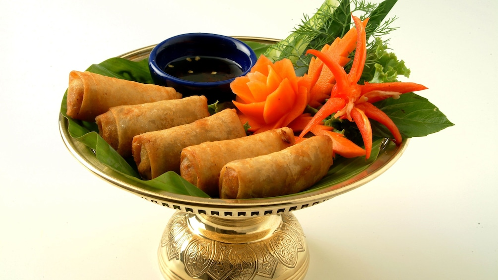 Spring rolls from Blue Elephant Cooking School in Phuket.
