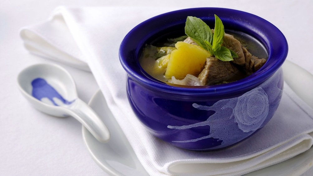 Sweet and sour beef stew from Blue Elephant Cooking School in Phuket.