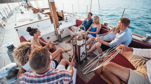 Group on the deck of a sailboat in Australia