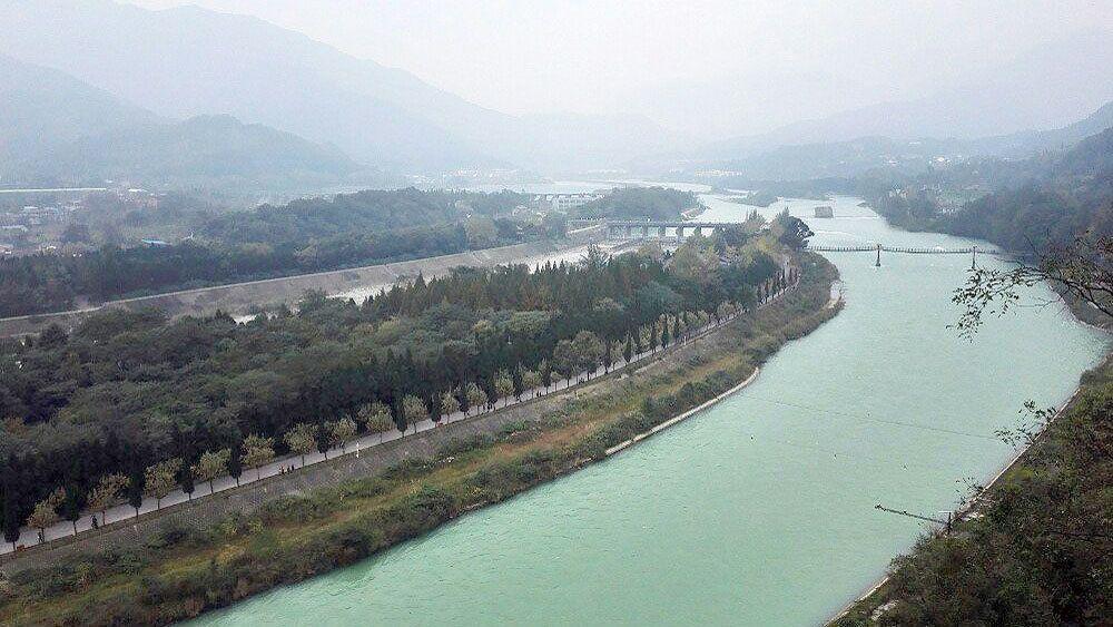 Dujiangyan irrigation system in Chengdu, China