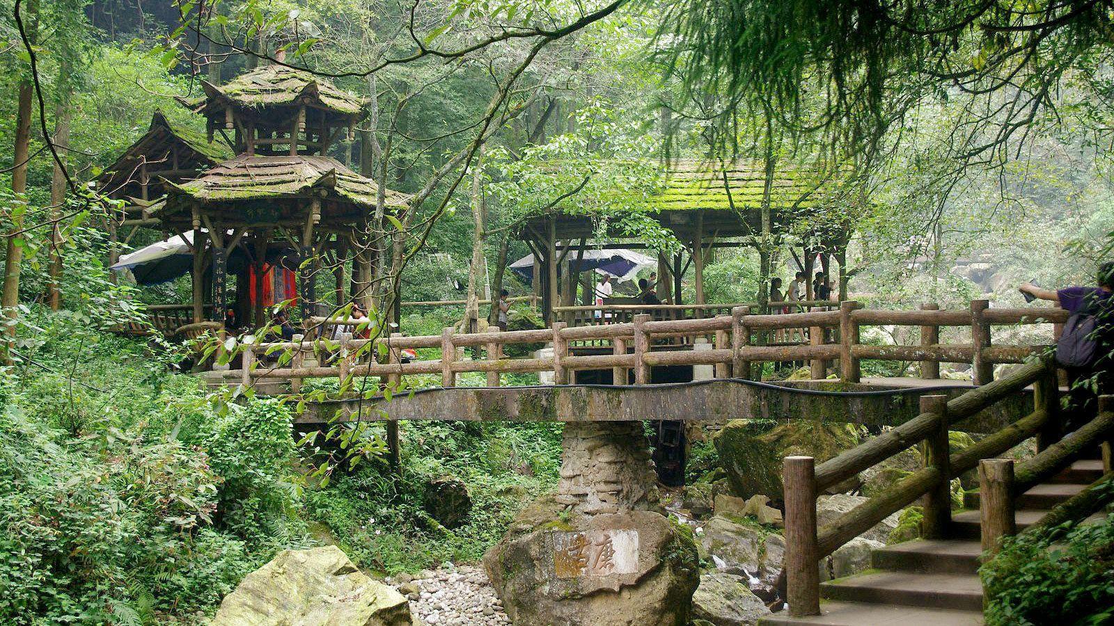View of Mount Qingcheng in Chengdu, China