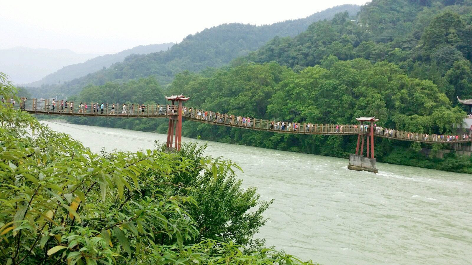 Day view of Dujiangyan City in China