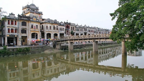 Landscape view of kaiping Diaolou in China