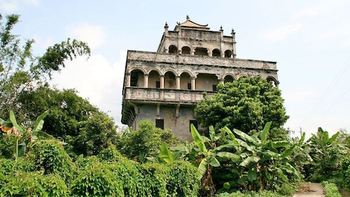 Close up view of kaiping Diaolou in China