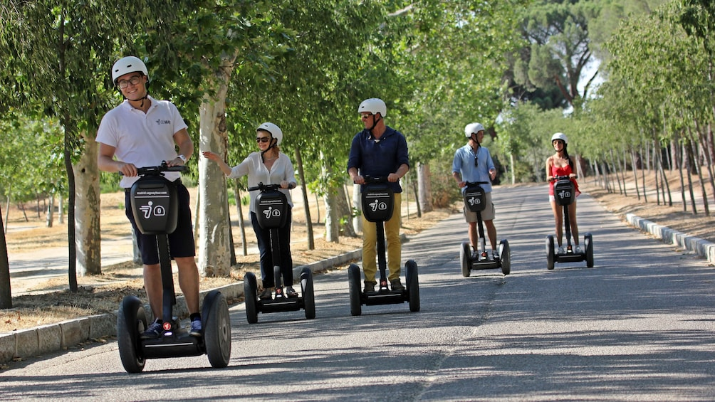 Foto 4 von 4 laden Segway group on a tree-lined road in Madrid