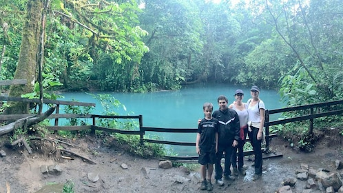 Family enjoying the Tenorio Volcano National Park & Rio Celeste Tour