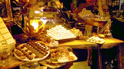 Table full of chocolates in St. Louis, MO