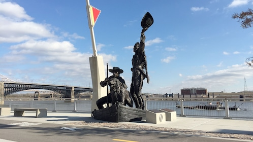 Monument on the Lewis & Clark Tour in St. Louis, MO