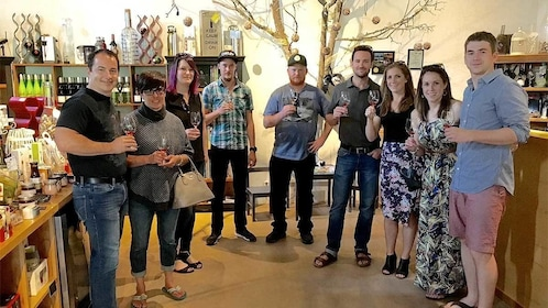 Group enjoying wine on the Deluxe Wine Tour in Vancouver BC
