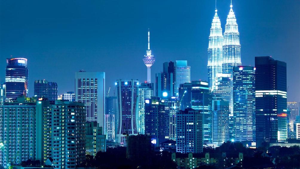 Beautiful night view of the city in Kuala Lumpur, Malaysia
