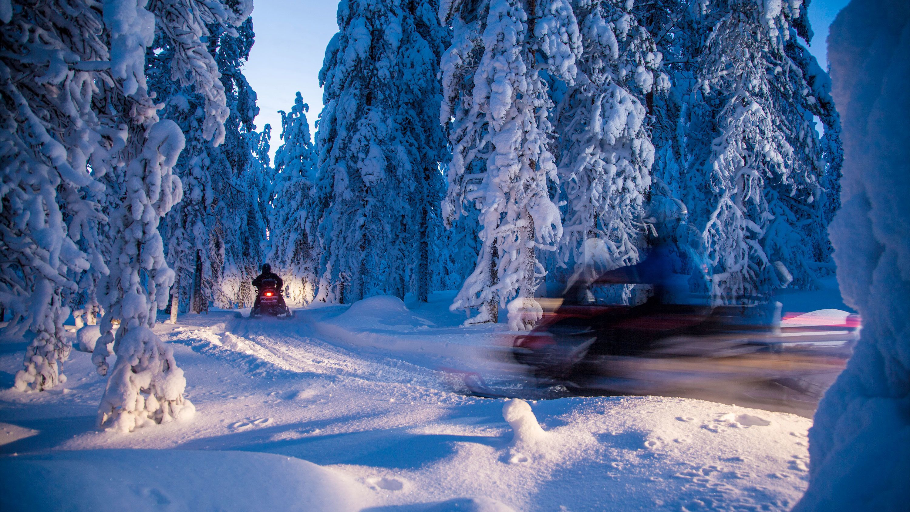 Snowmobiling in Finland